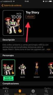 Descarga todas las esferas de Toy Story en el Apple Watch