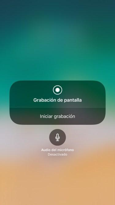 grabar la pantalla del iPhone 2
