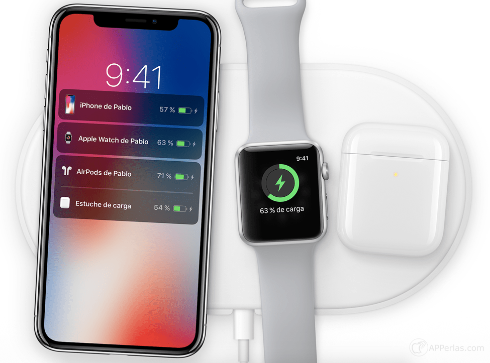 nuevo apple watch airpods iphone x qi