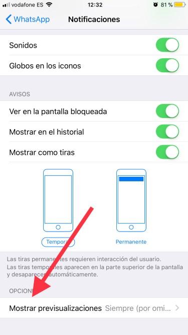 Desactiva la previsualización de Whatsapp