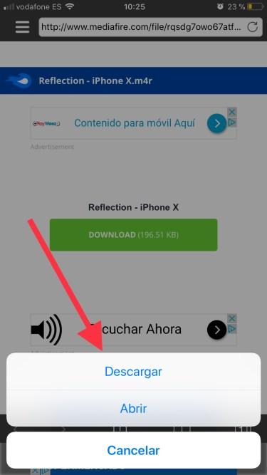 tono de llamada del iPhone X