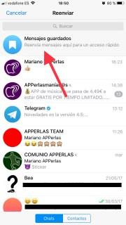Guarda los mensajes en Telegram más importantes y elimina el resto