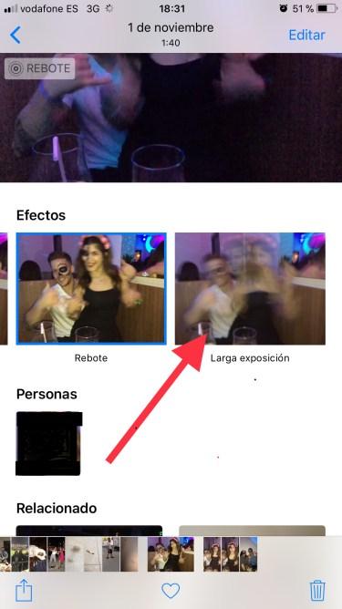 larga exposición con el iPhone 1