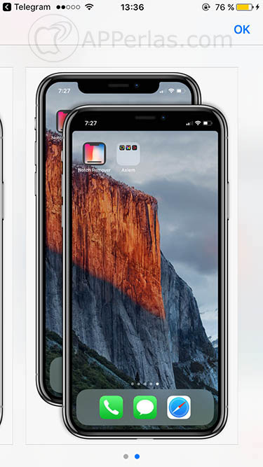 ocultar el notch del iphone x notcho notch remover 4