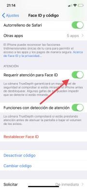 Aprende a configurar el Face ID y todas sus opciones disponibles