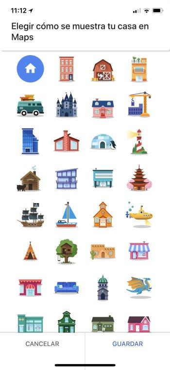 actualización de Google Maps _iconos