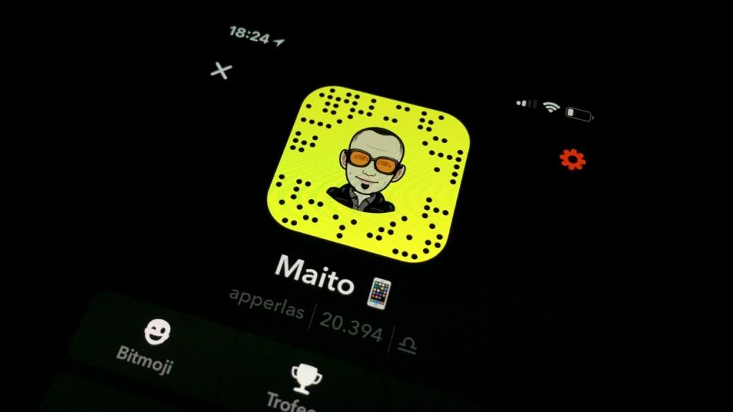 Menciones de contactos en Snapchat