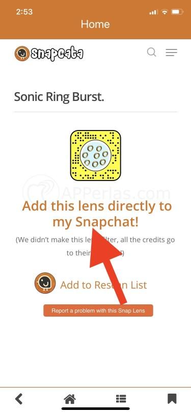 Desbloqueo automático del filtro de Snapchat oculto