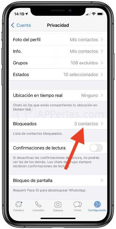 Cómo desbloquear en Whatsapp