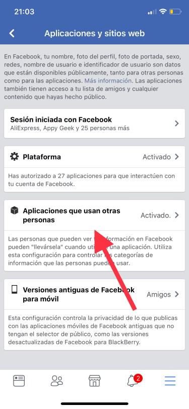 privacidad de tu cuenta de Facebook 5