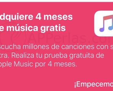 Apple Music gratis, hasta 4 meses, gracias a MusixMatch