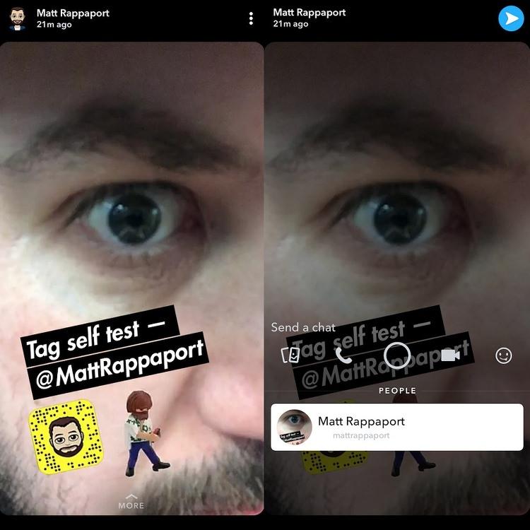 Menciones en Snapchat