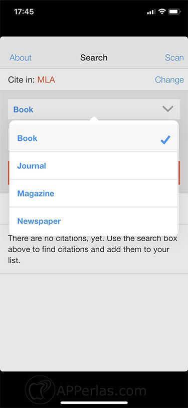 App para crear citas bibliográficas EasyBib 3