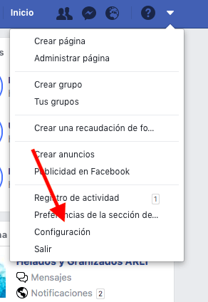 copia de seguridad de Facebook 1