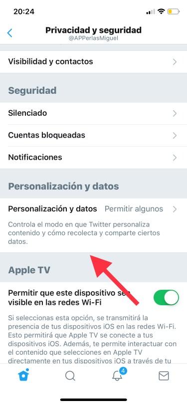 privacidad de Twitter 2