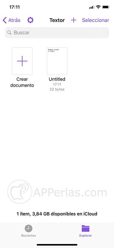 app de escritura Textor 3