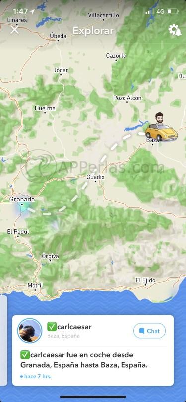 Info mapa Snapchat