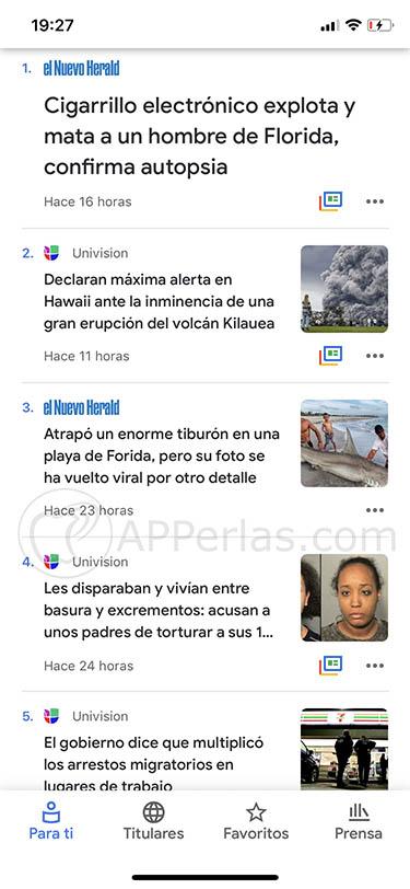 Google News app ios 2