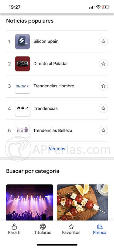 Google News app ios 3