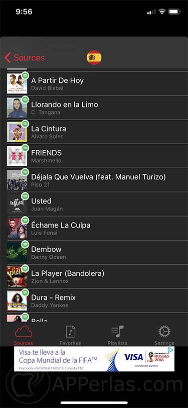 canciones más escuchadas iphone gratis 2