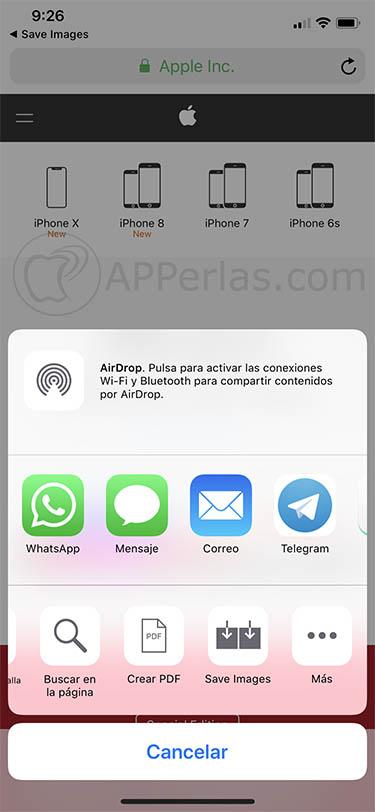 descargar muchas imágenes iOS Save images 2