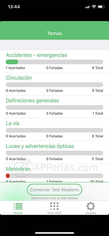 app de tests DGT 1