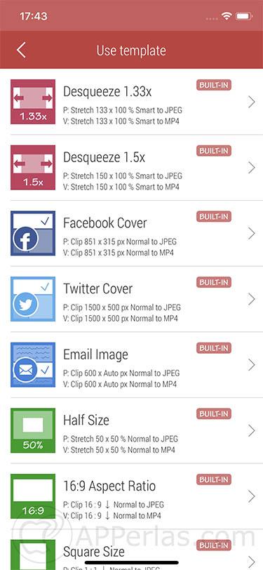 cambiar el formato de las fotos app 2