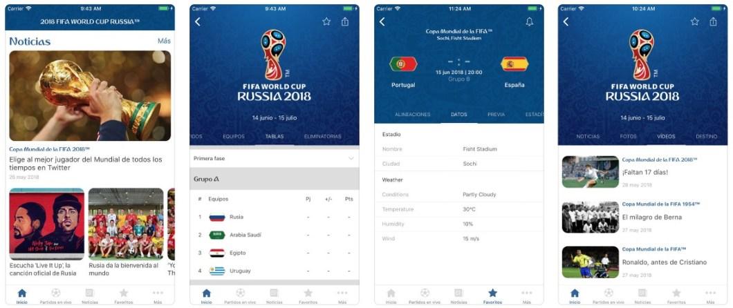 App mundial FIFA 2018