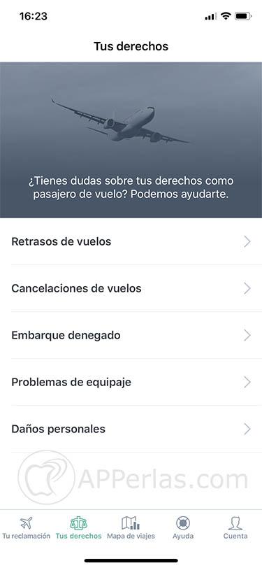 vuelo cancelado reclamación app ios 2