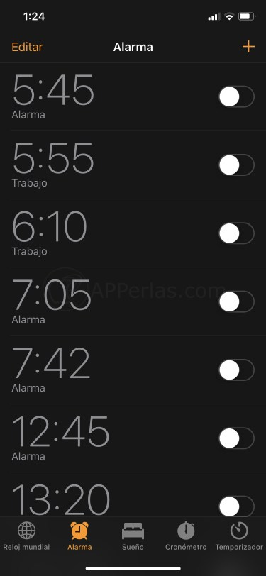 Etiqueta las alarmas