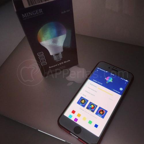 Caja de la bombilla y app