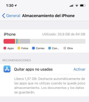 Quitar apps no usadas