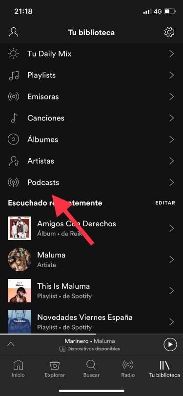 Podcasts en Spotify 1