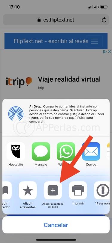 Añade la webapp a tu pantalla de inicio