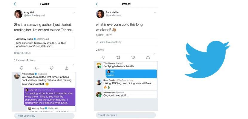 Nuevos hilos y circulito verde en Twitter