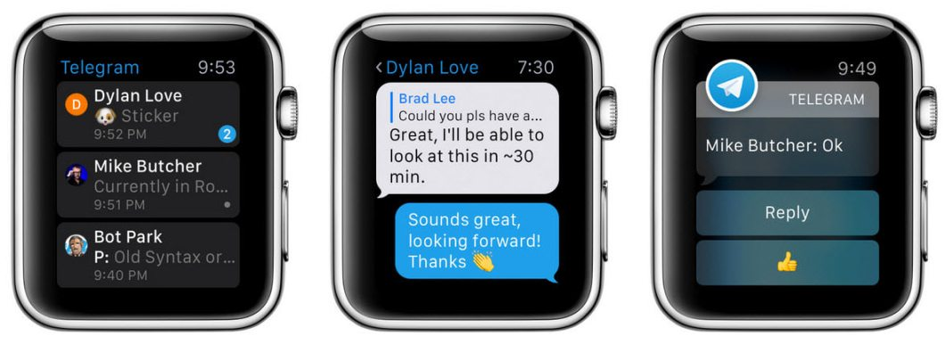 App de Telegram para Apple Watch