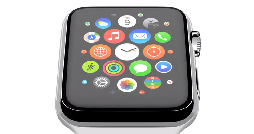 app colgada en el Apple Watch