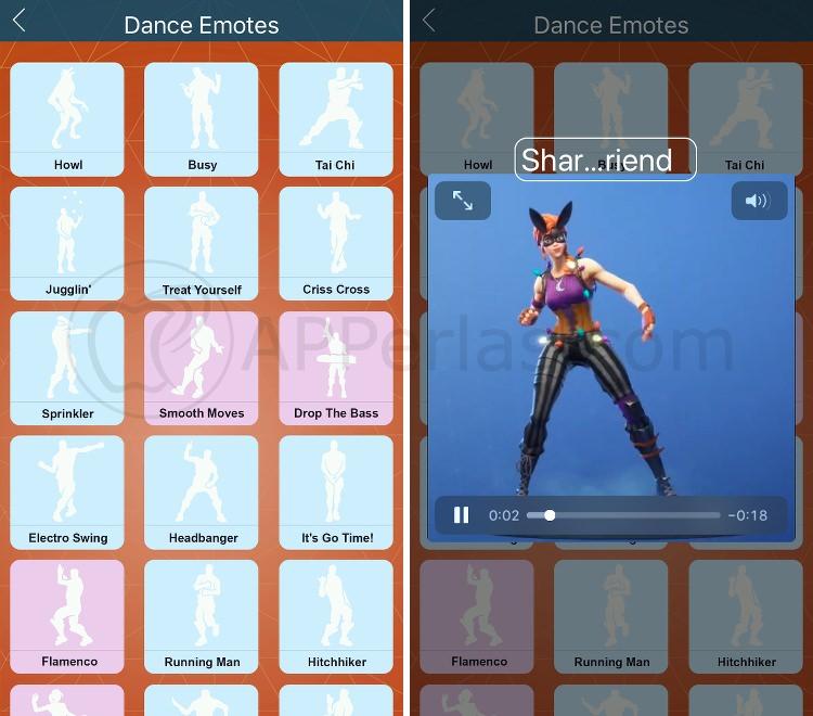 Todos los bailes de Fortnite