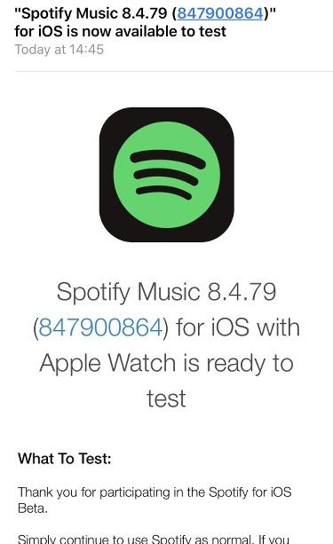 Beta de Spotify