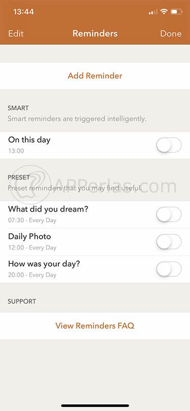 diario en iOS 3 momento
