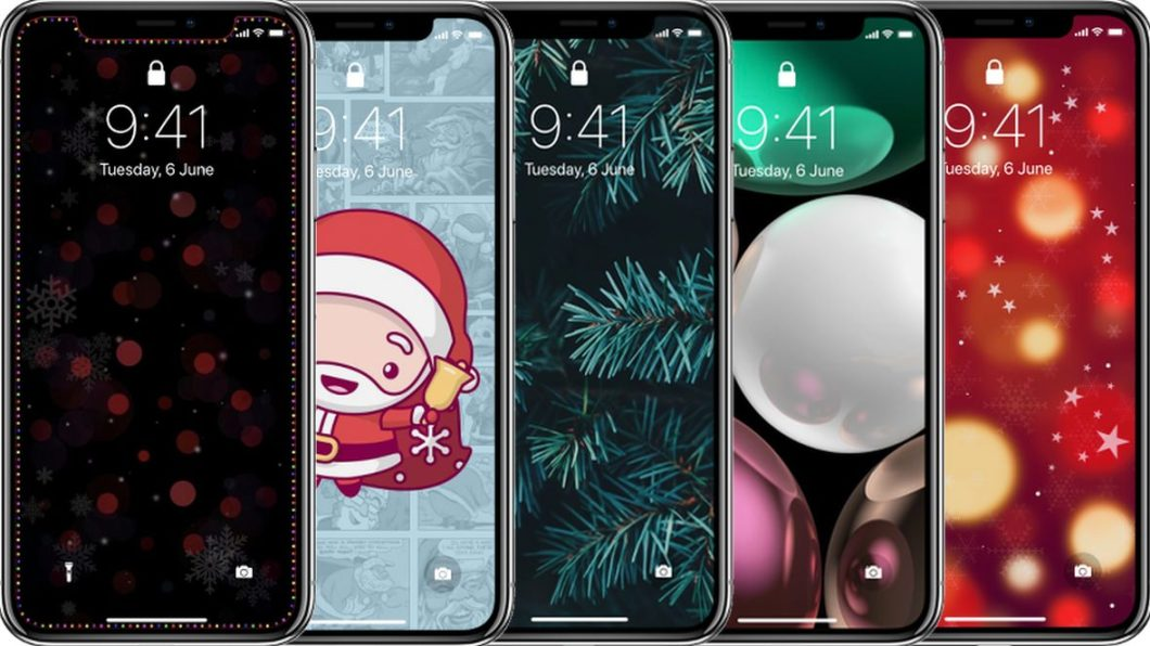 Fondos de pantalla navideños para iPhone