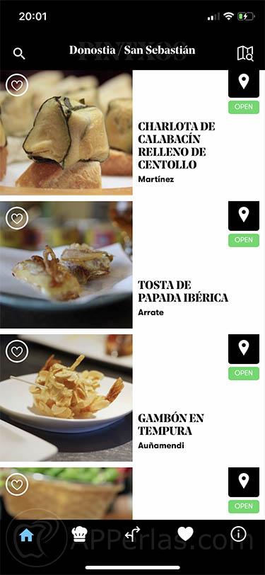 Pintxos app donosti ios 3