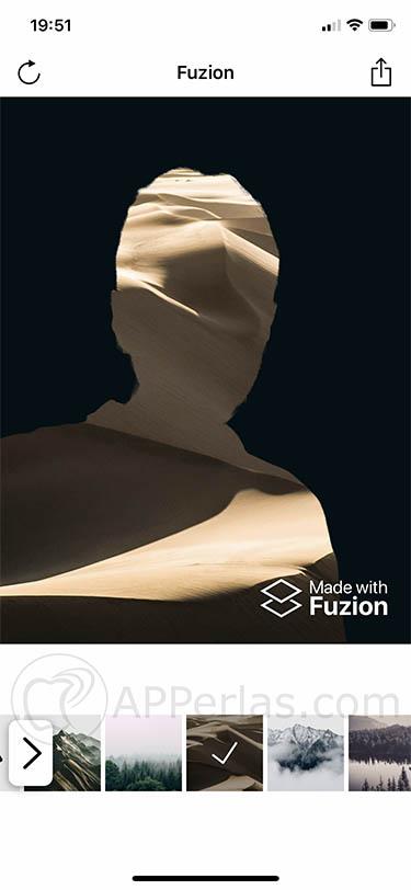 aplicación de edición fotográfica para iOS fuzion 3
