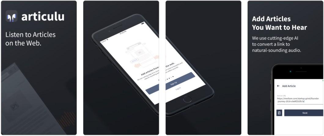 App para escuchar artículos web
