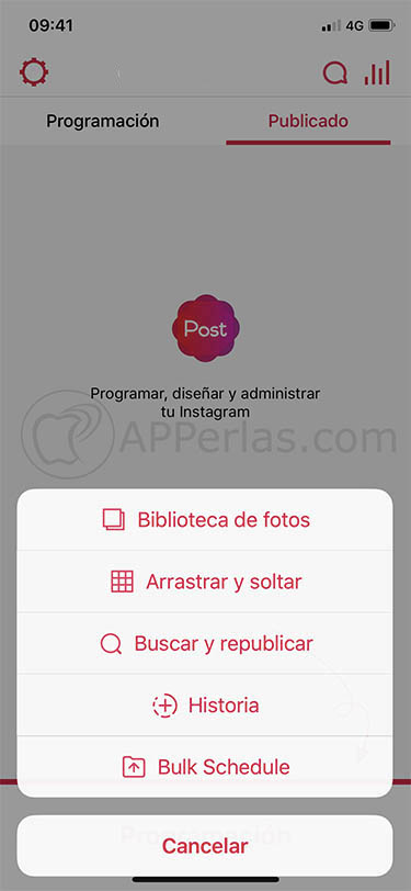 programar publicaciones en instagram gratis apphi 2