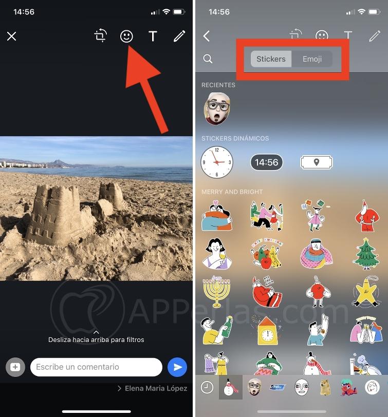 Añade Stickers a tus fotos de WhatsApp