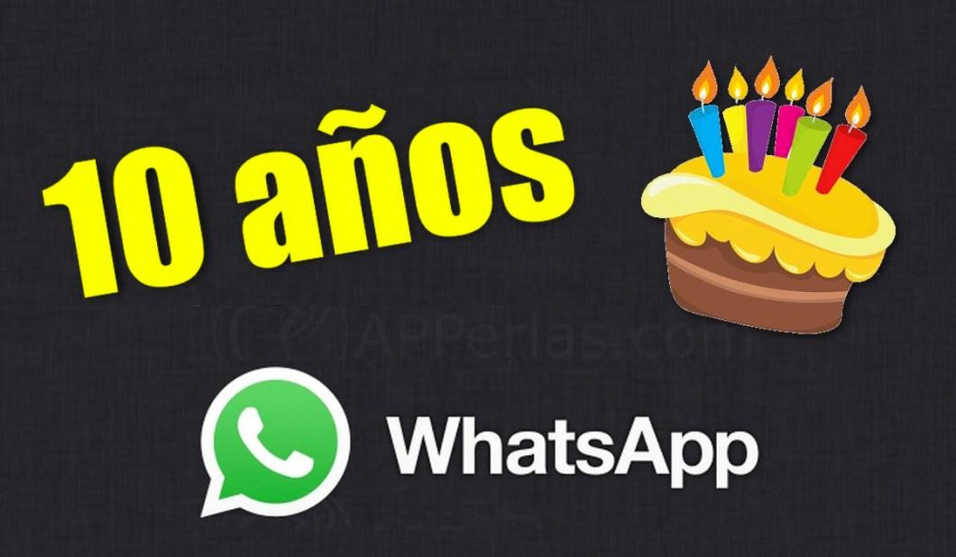 10 años de WhatsApp