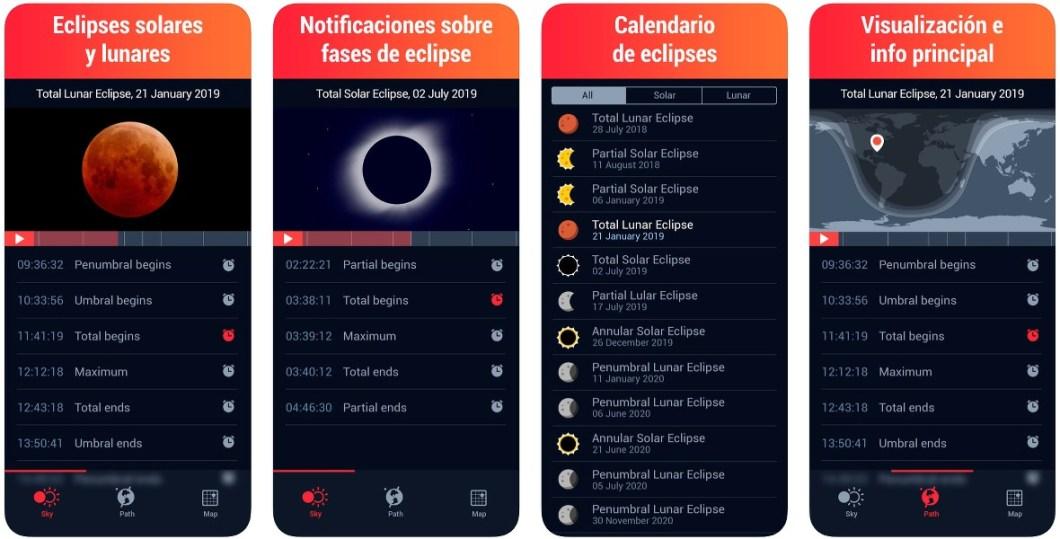 Información sobre eclipses