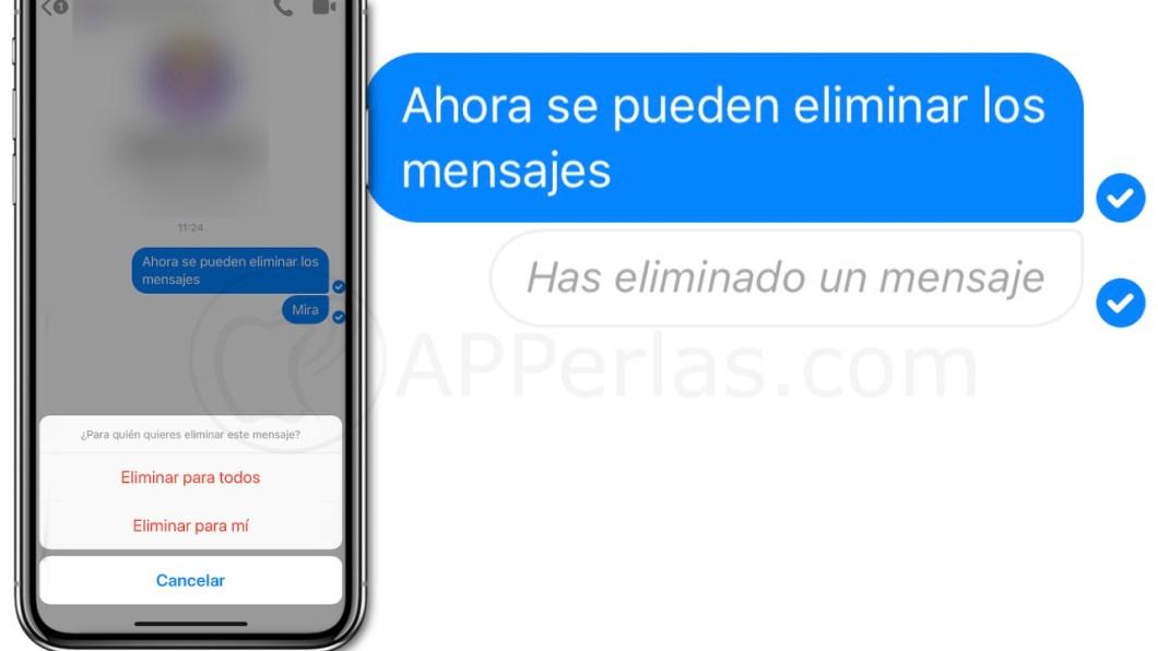 Borra mensajes en Facebook Messenger