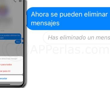 Ya se pueden eliminar mensajes en Facebook Messenger para iOS